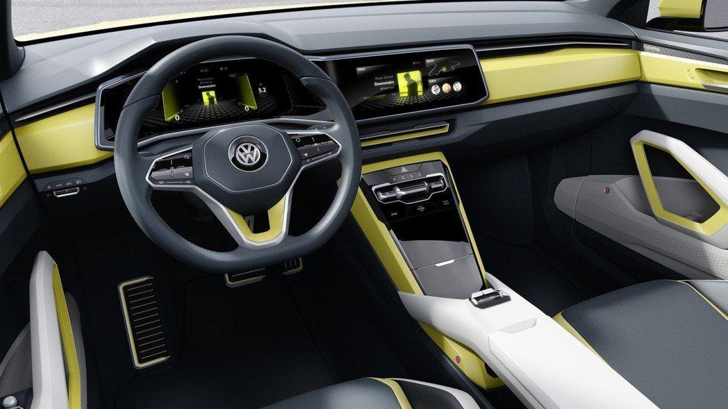 圖為Volkswagen T-Corss Breeze Concept內裝。 摘自Volkswagen