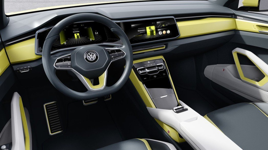 圖為Volkswagen T-Corss Breeze Concept內裝。 摘...
