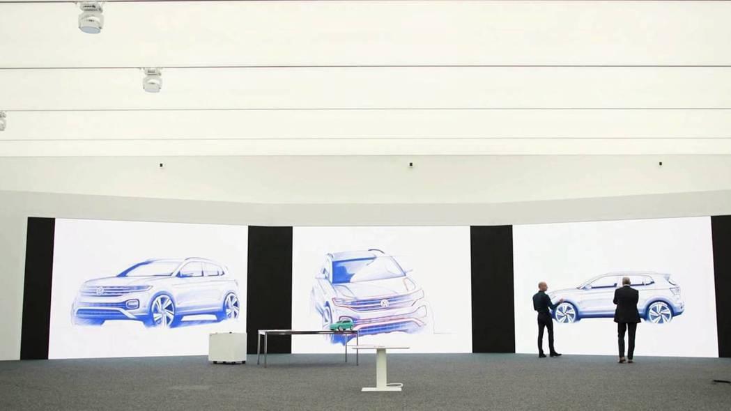 圖為Volkswagen T-Corss 手繪圖。 截自Volkswagen影片
