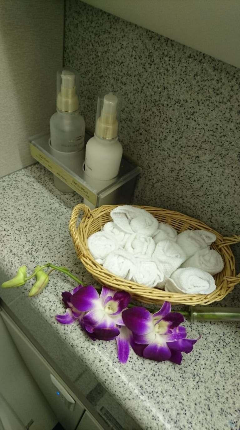 廁所備品以及擺得很整齊的擦手巾 圖文來自於:TripPlus