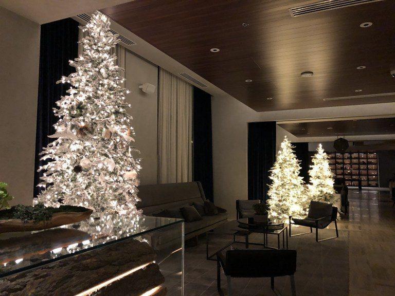 登記入住的大廳一角,因為當時是聖誕節,大廳有許多聖誕樹 圖文來自於:TripPl...
