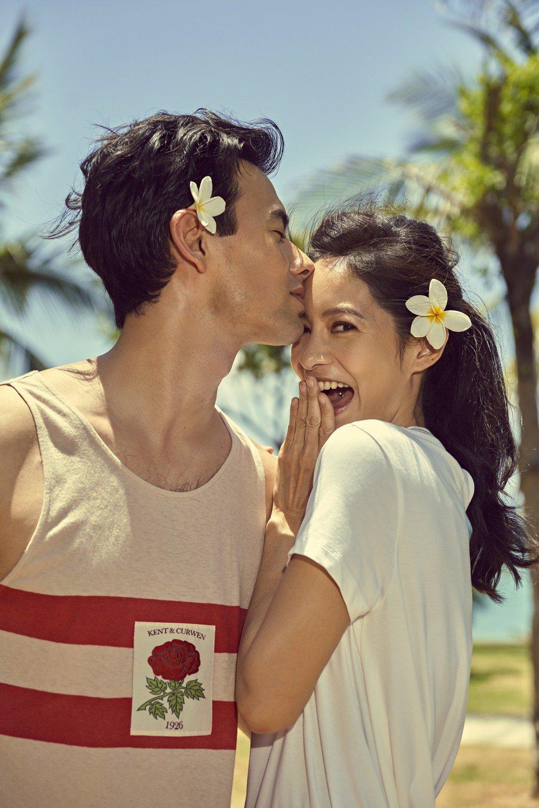 Janet與老公George同遊三亞拍攝雜誌封面。圖/Ciao潮旅提供
