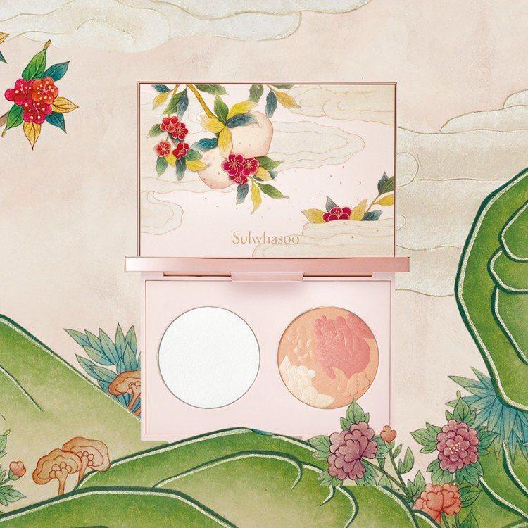 桃源仙境限量系列限量蜜粉頰彩盤2,580元。圖/雪花秀提供