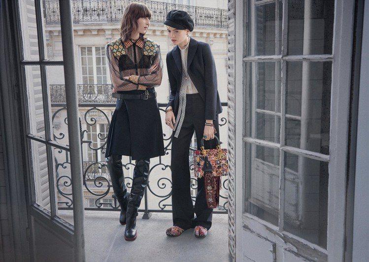 Dior發佈全新的秋冬形象廣告,以法國新浪潮電影為靈感拍攝而成。圖/Dior提供