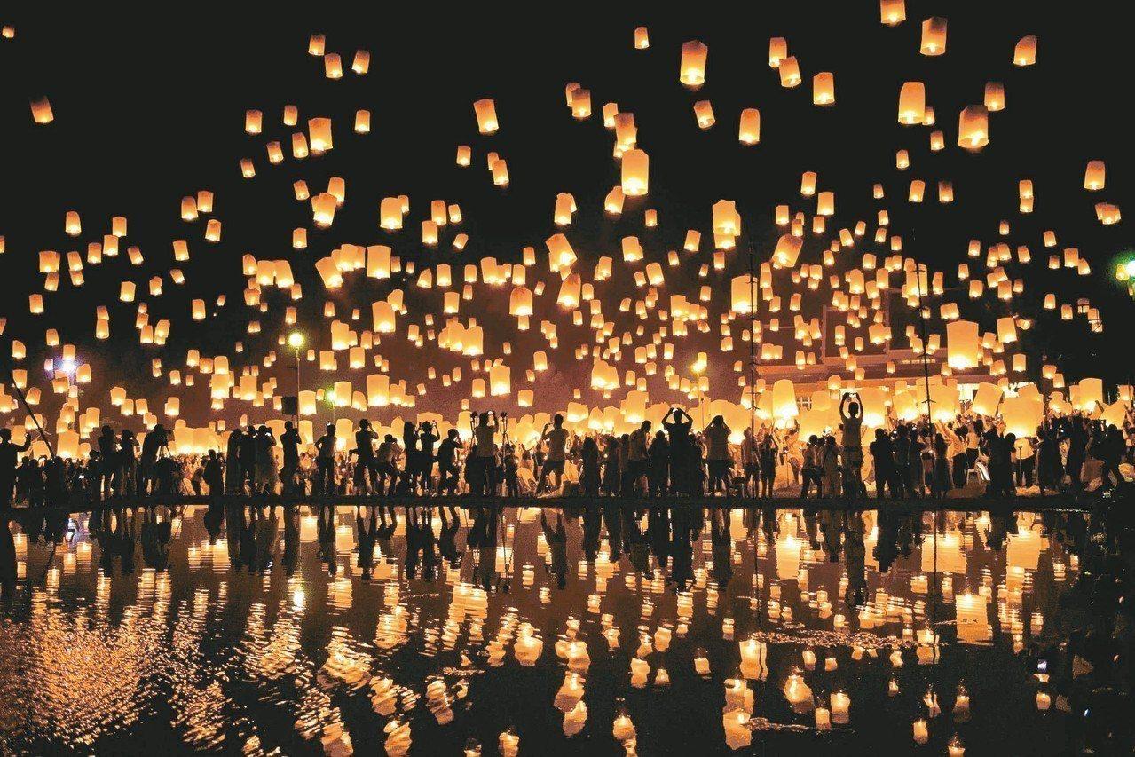 泰北放天燈的傳統至今已有兩千五百多年歷史。 法新社