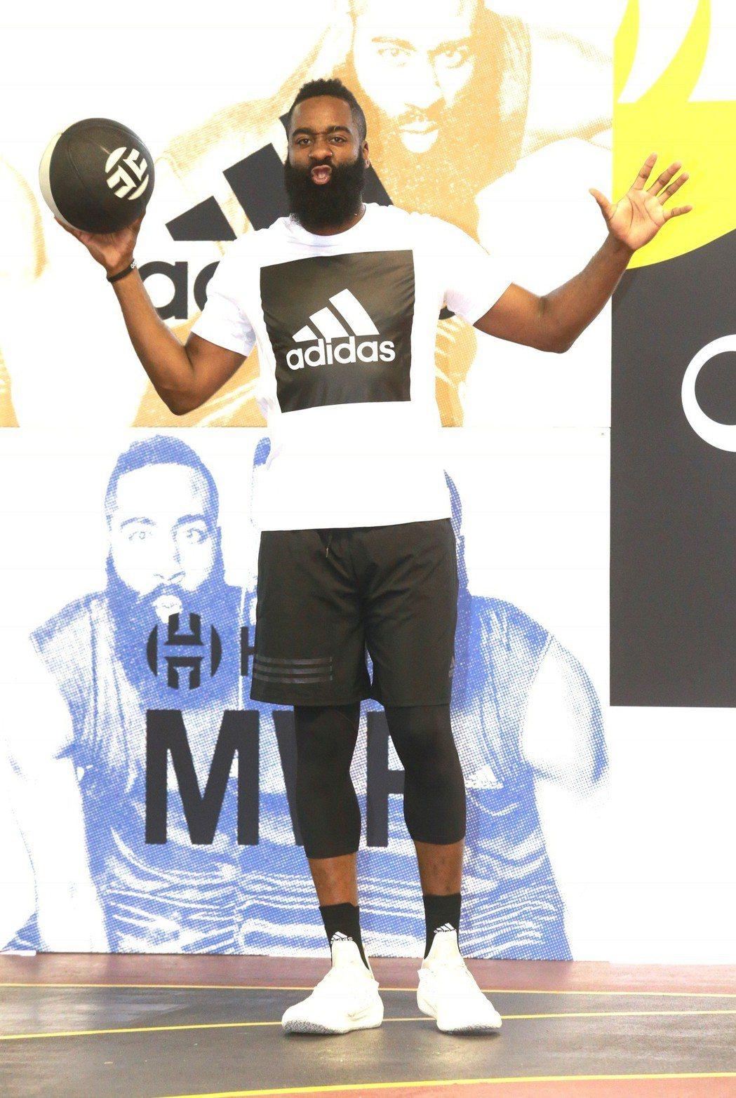 NBA年度MVP的哈登(James Harden)中午台北101球場,受邀錄製綜...
