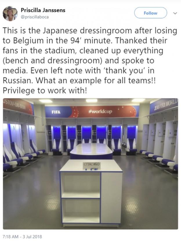 國際足總執行長楊森斯(Priscilla Janssens)曾在個人推特上稱讚世...