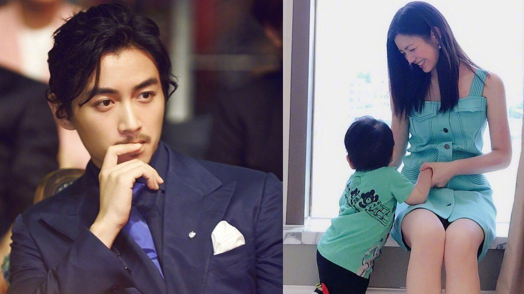 網友們直呼陳曉與兒子小星星長相非常相似。圖/擷自微博。