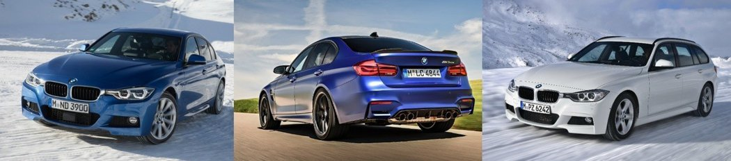 現行版的BMW 3-Series Sedan/Touring,以及最終車型的M3...