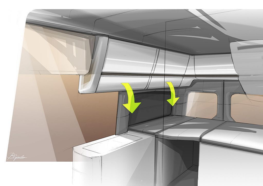 在車內有更寬敞的空間應用下,Crafter Camper露營車還加入了系統廚具設備。 圖/福斯商旅提供