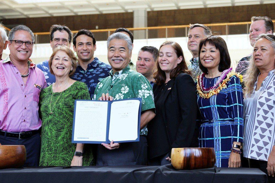 夏威夷州議會於5月通過禁售特定防曬乳的有關法令,本周二(3)州長David Ig...