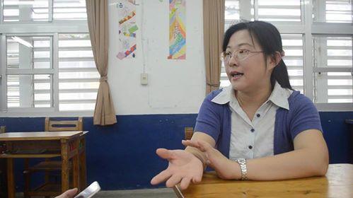 台東尚武國小老師郭靜雯說,鼓勵孩子不要自我設限,堅持下去,就會有好事發生。圖/台...