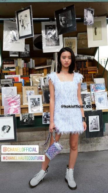 巴黎的香奈兒高訂秀,是木村光希Koki看秀初體驗。圖/摘自IG