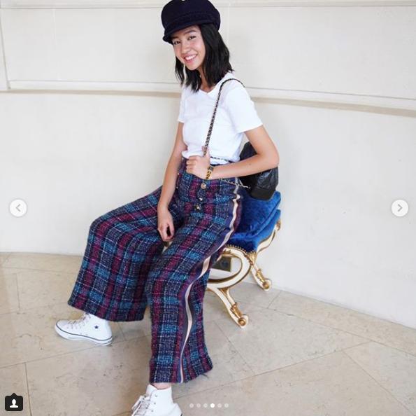 木村光希Koki在巴黎的穿搭,充滿個人風格的青春感。圖/摘自IG
