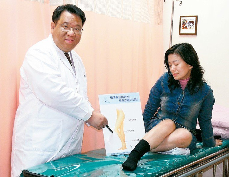 李相台 (左)專長靜脈曲張治療。 圖/本報資料照片