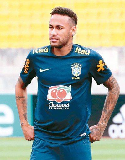 內馬爾是巴西隊的絕對主力。 (歐新社)