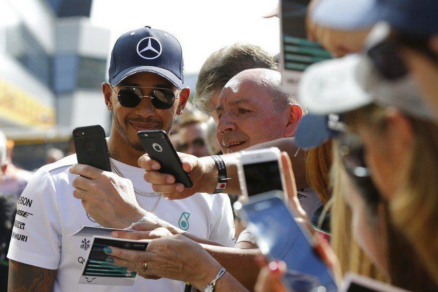英國4屆F1冠軍車手漢米爾頓。 美聯社