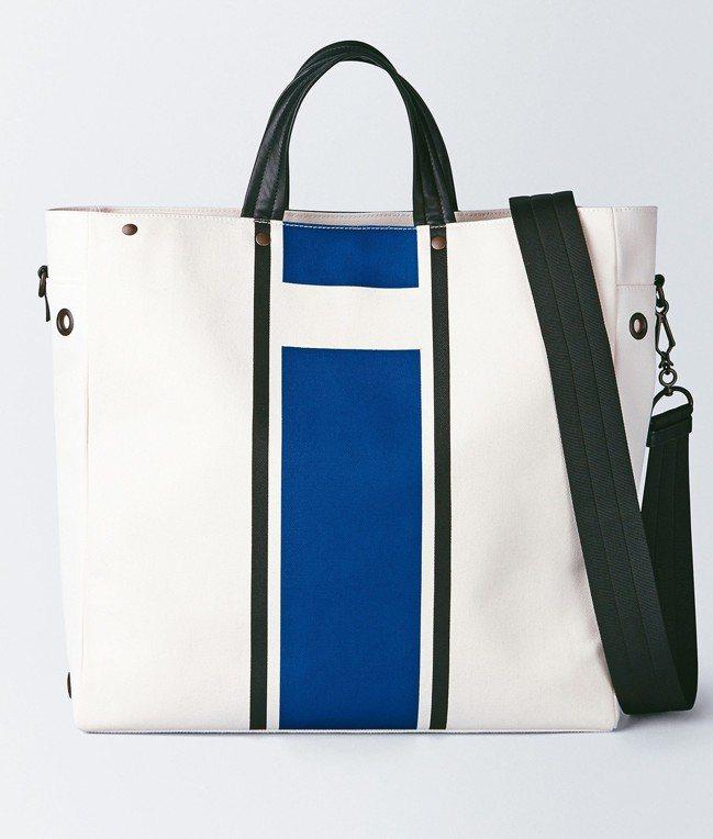 Bottega Veneta帆布色塊拼貼托特包,約51,300元。 圖/Bott...