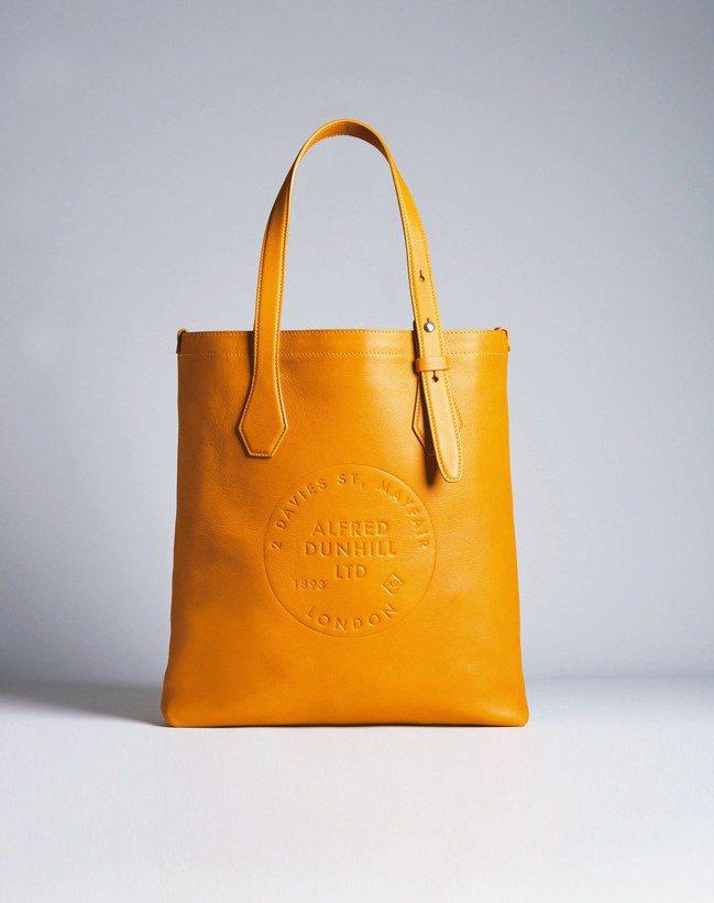 dunhill小型亮色皮革托特包,約30,700元。 圖/dunhill提供