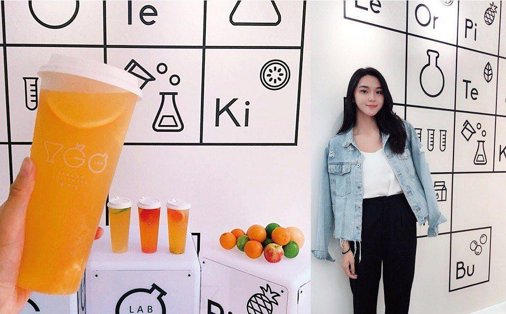 網紅謝佳容開設研果室yanguolab飲料店,創意圓夢。 業者/提供