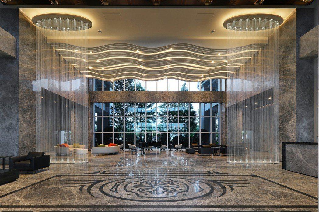 豪宅大廳設計更顯示出氣勢磅礡。 富旺國際/提供