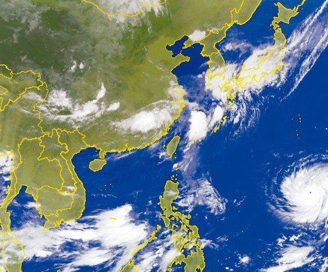 從衛星雲圖可發現,瑪莉亞已「開眼」,是颱風眼小而美的颱風。 圖/擷取自氣象局網站
