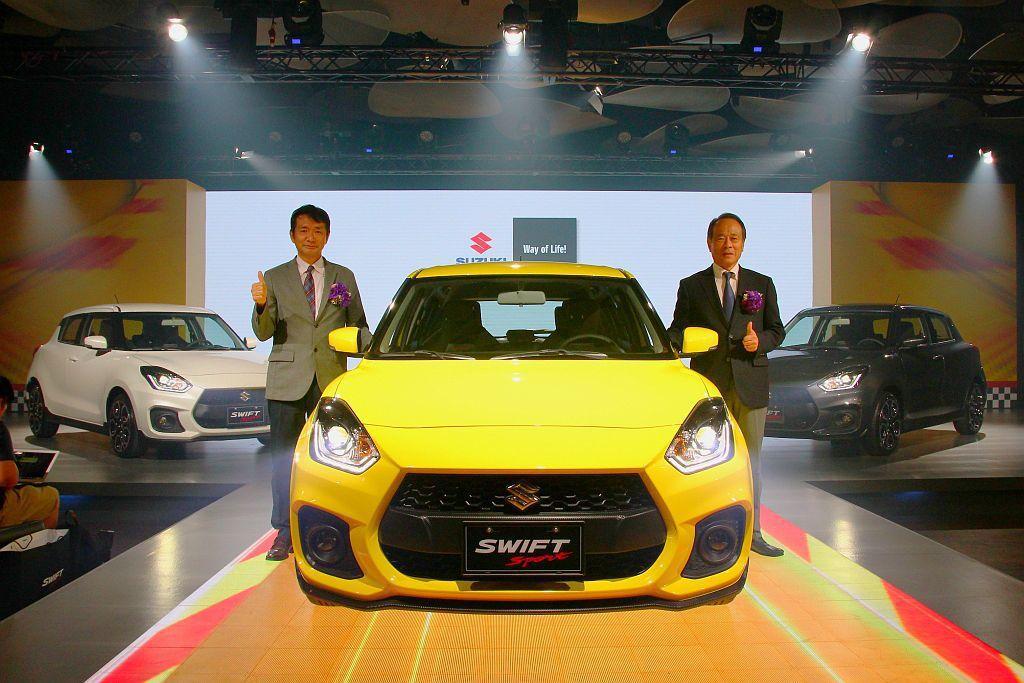新新Suzuki Swift Sport以台幣80.8萬元的售價登台開賣。 記者...