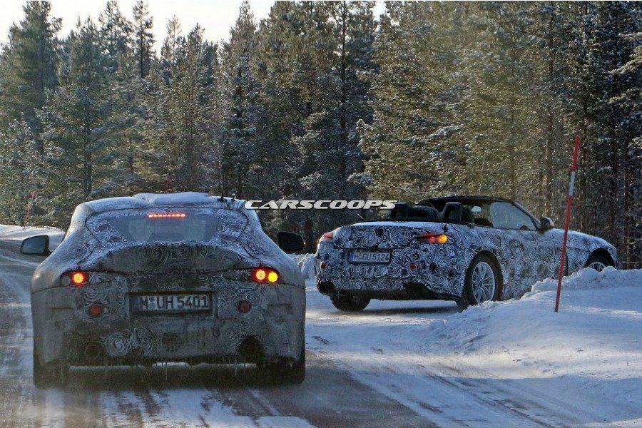 圖左為全新Toyota Supra,圖右為全新BMW Z4。 摘自Carscoops