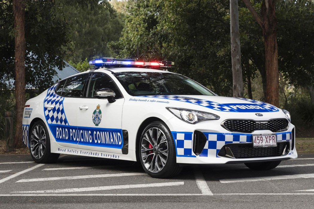 Kia Stinger化身澳州昆士蘭的警車啦! 摘自Kia