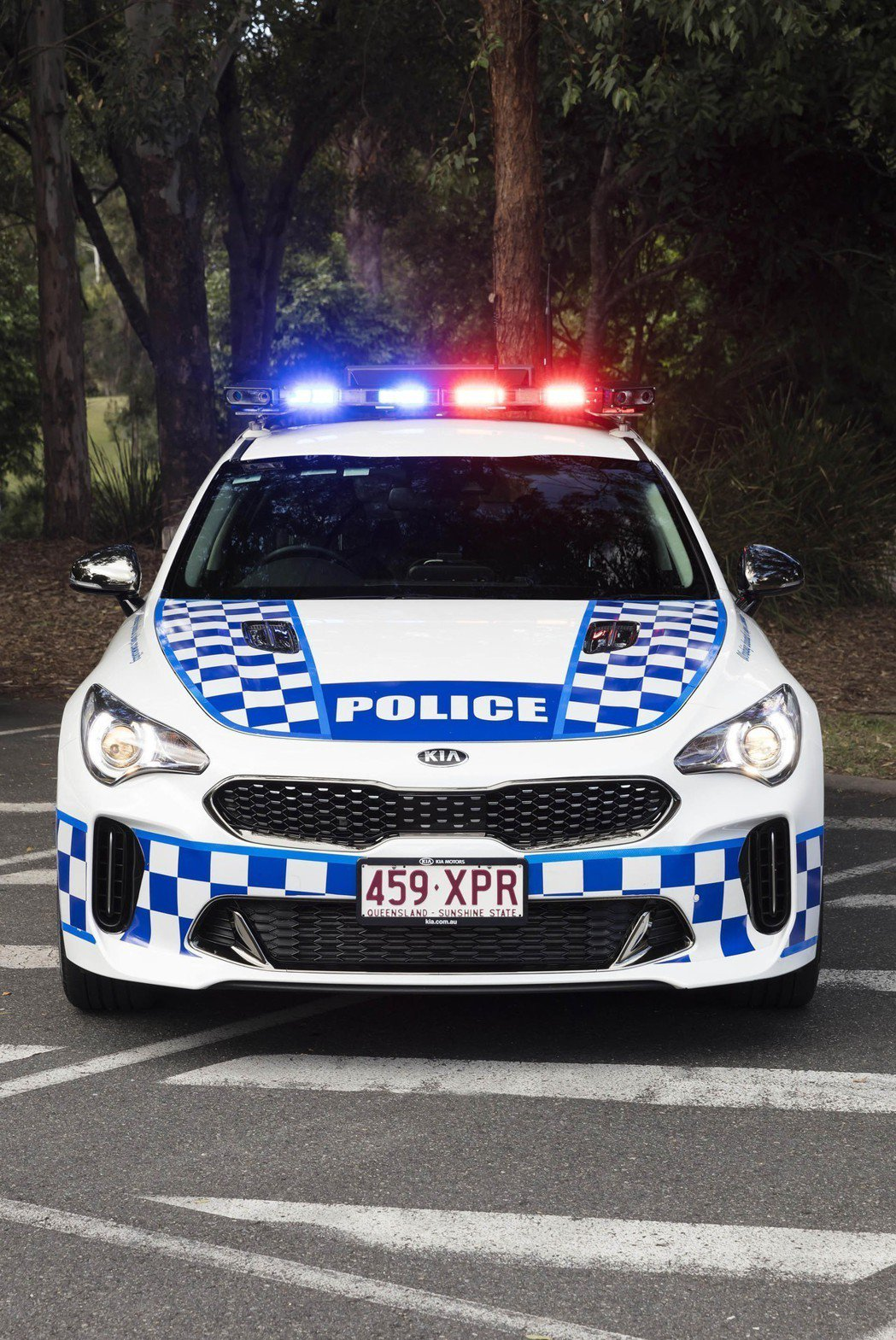 Kia Stinger澳洲昆士蘭警車版。 摘自Kia