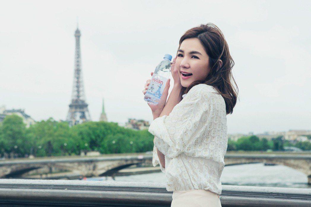 Ella到法國拍攝代言廣告。圖/先勢公關提供