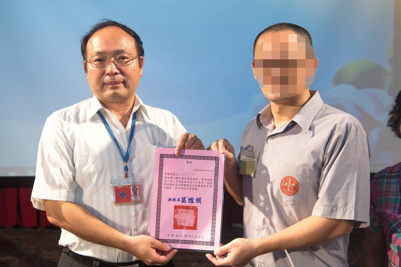 小吳以第1名成績在「向陽計畫戒毒班」畢業。記者蔡翼謙/攝影
