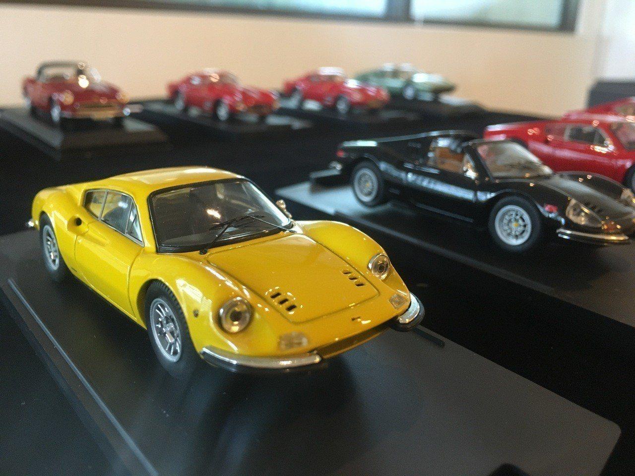 法拉利模型車展,展出88部經典收藏。圖/長榮鳳凰(礁溪)提供