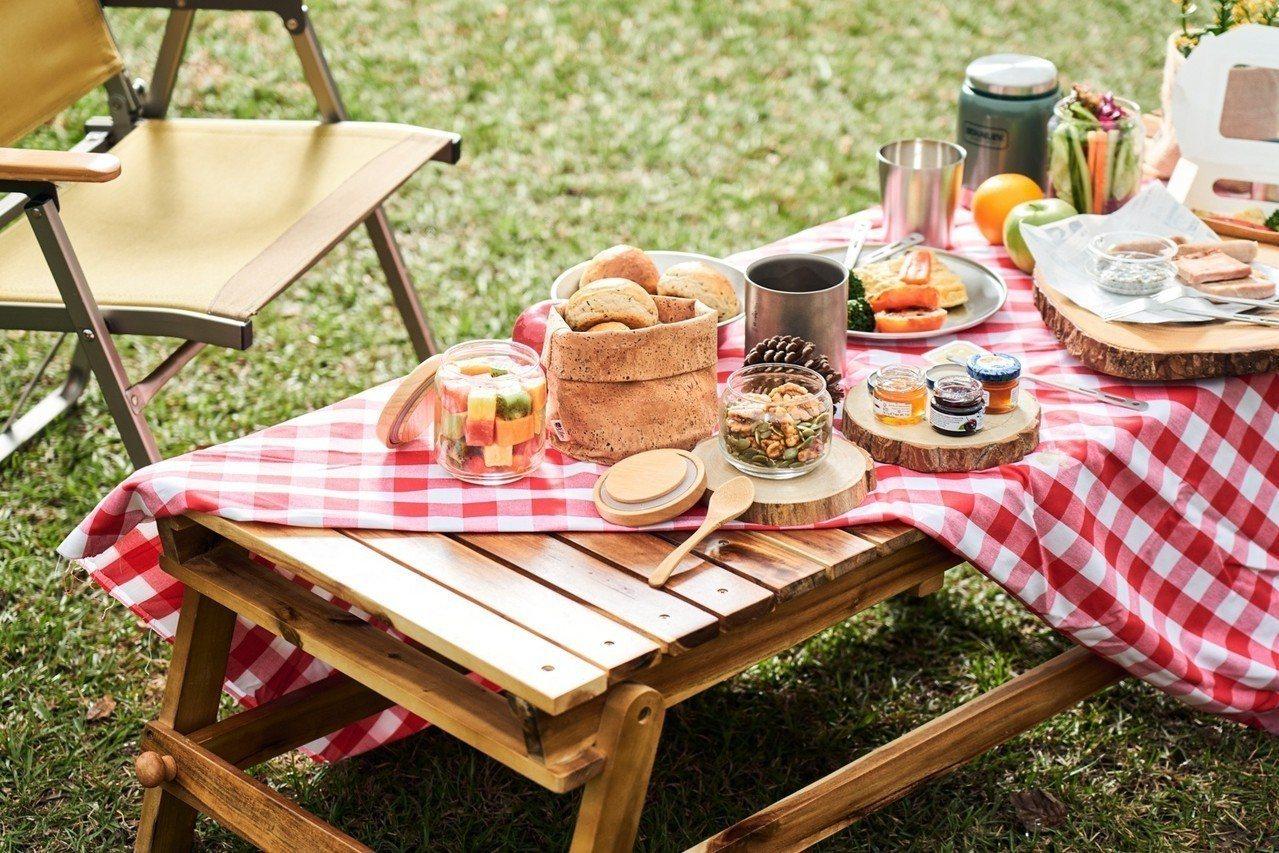 礁溪老爺得天露營區提供元氣早餐。圖/礁溪老爺提供