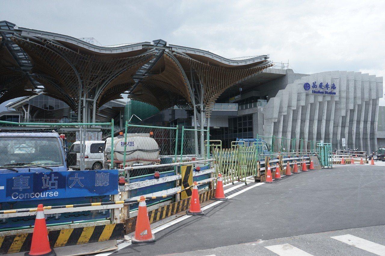 花蓮火車站改建工程第一階段即將完工。記者王燕華/攝影
