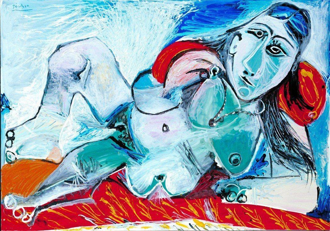 巴布羅‧畢卡索(1881–1973), 戴項鍊的裸女, 1968。Tate: P...
