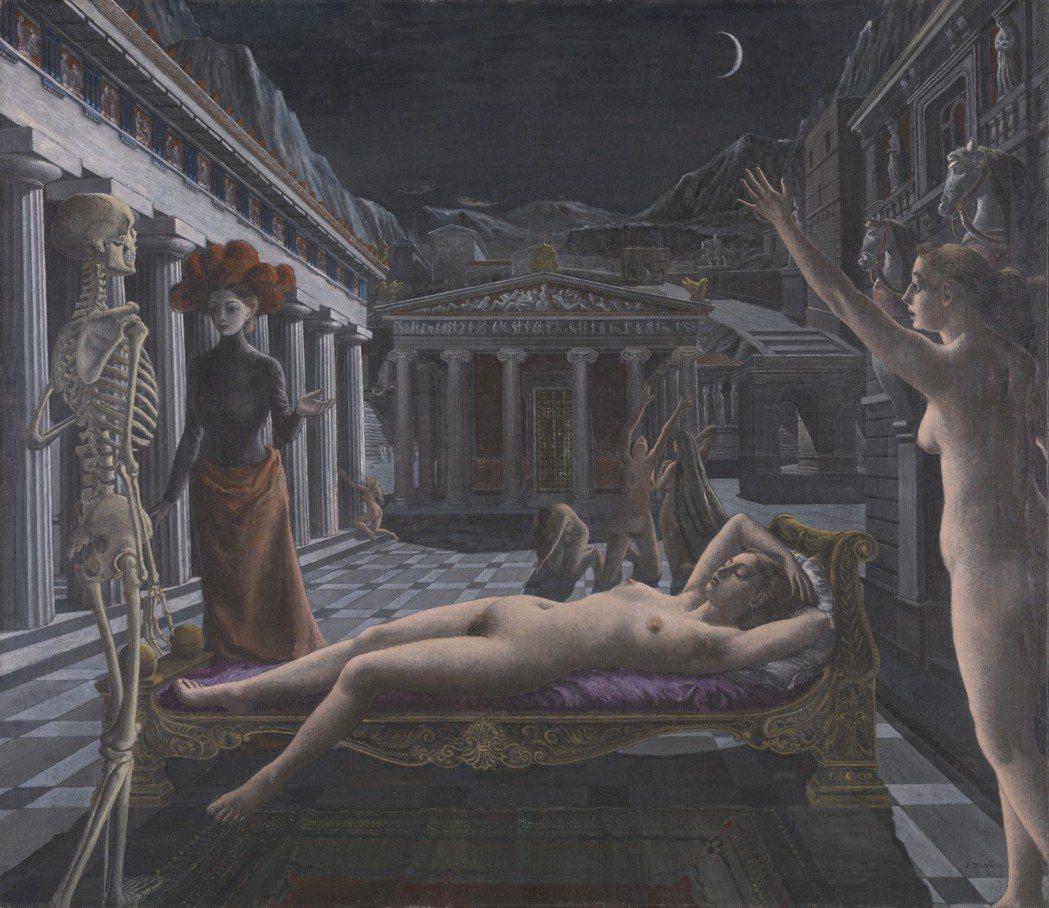 保羅‧德爾沃(1897–1994), 沉睡的維納斯, 1944。 Tate: P...