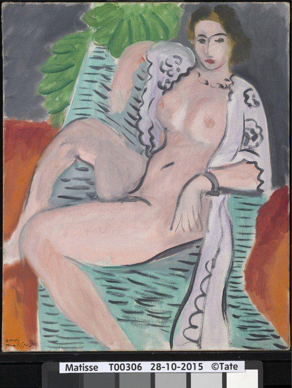 亨利‧馬諦斯(1869–1954), 披巾裸女,1936。Tate: Purch...