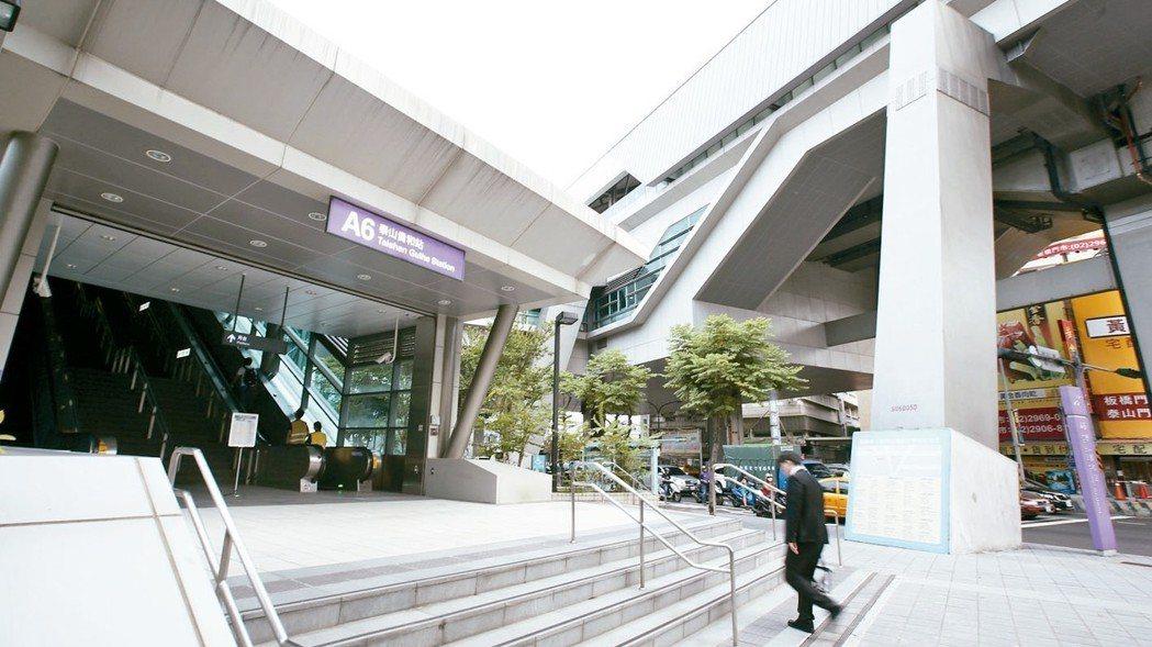機場捷運泰山貴和站加持,帶動房市在地買盤。 記者林澔一/攝影