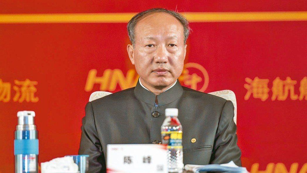 海航集團董事局昨日選舉董事局主席陳峰兼任董事長。 中新社