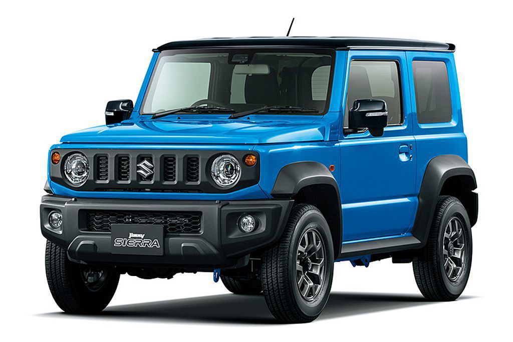 Suzuki Jimny Sierra較接近海外市場販售規格,車身尺碼拓展到3550x1645x1730mm、軸距2250mm表現。 圖/Suzuki提供