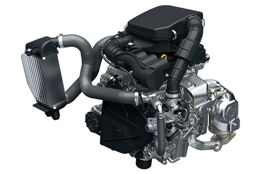 日本當地K Car規範的動力搭載新0.66L直列三缸渦輪增壓引擎,具備64ps最大馬力及9.8kgm峰值扭力輸出表現。 圖/Suzuki提供
