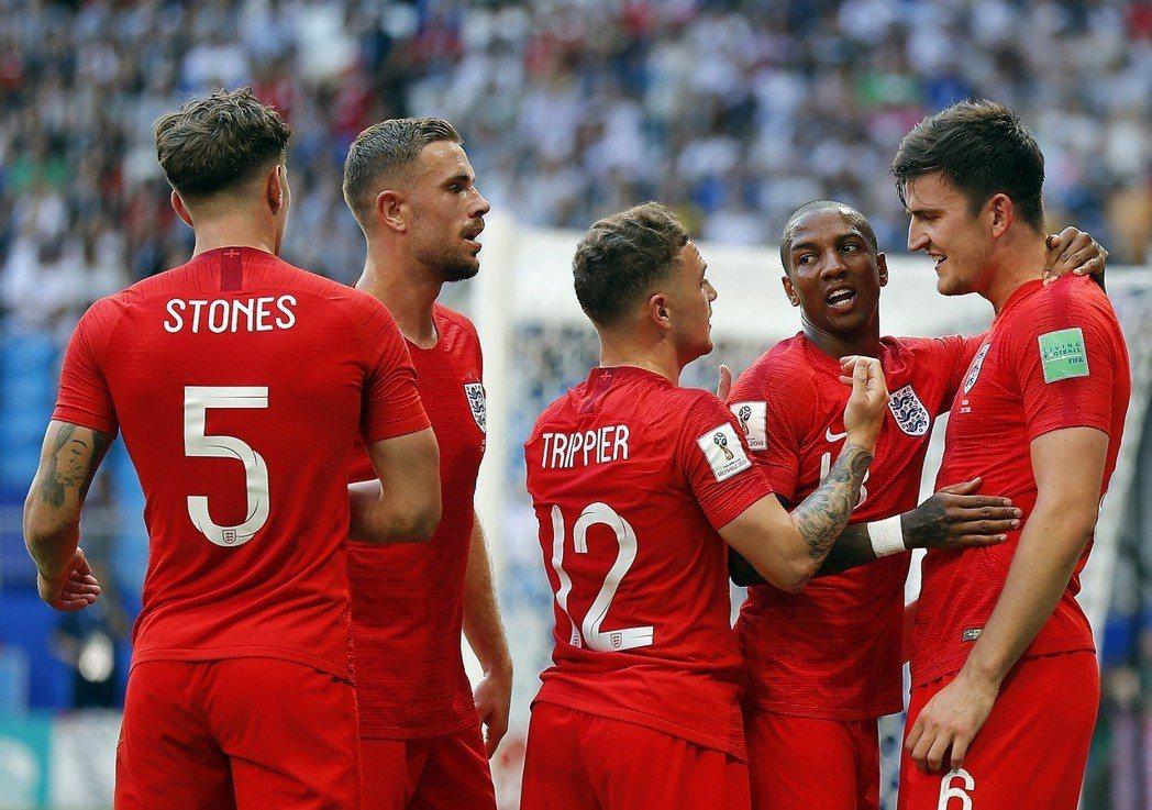 英格蘭等了28年終於再次闖入世足四強。 歐新社