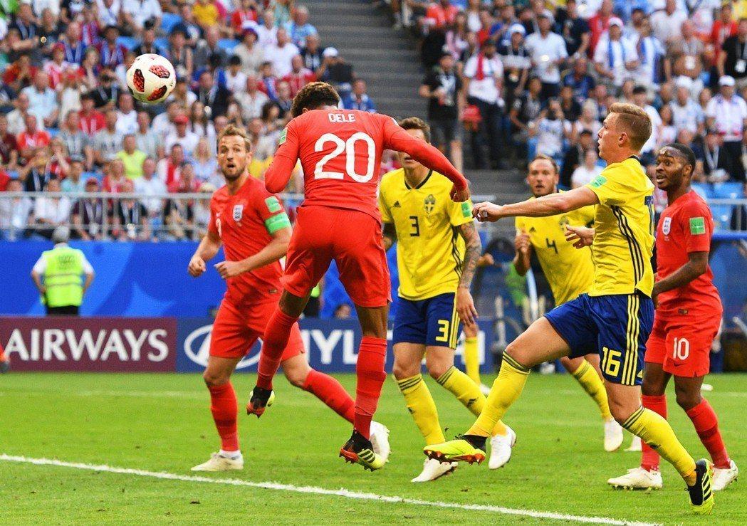 英格蘭靠著阿里的頭錘再次破網,取得2:0領先。 歐新社