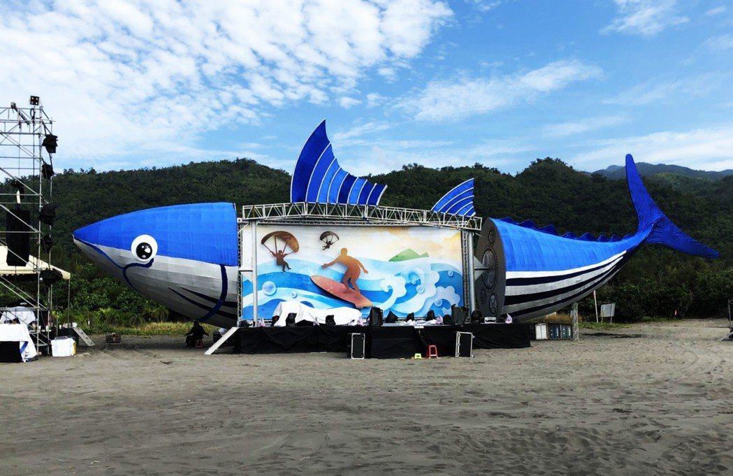 2018音浪頭城-海洋文化節今、明兩天在烏石港沙灘舉行,打造鰹魚舞台,迎接男神女...