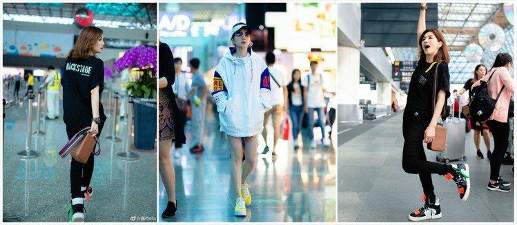 Ella以Off-White 3.0高筒休閒鞋、CONVERSE運動鞋展現運動風...