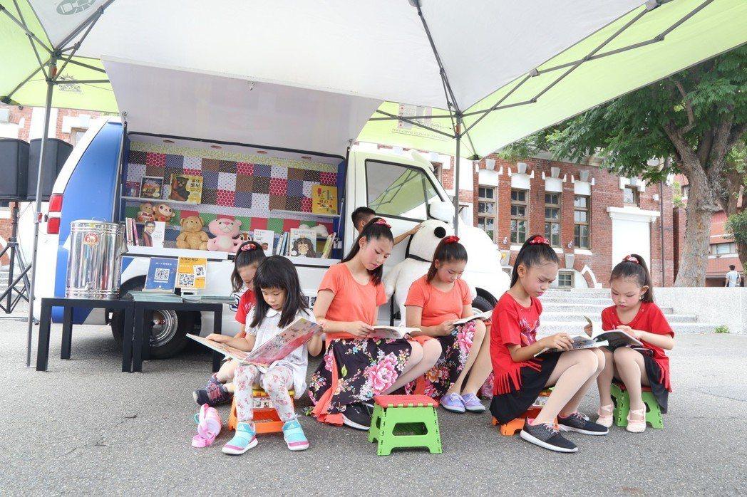 兒童閱讀小胖卡已從4月起巡迴北市校園。 記者魏莨伊/攝影