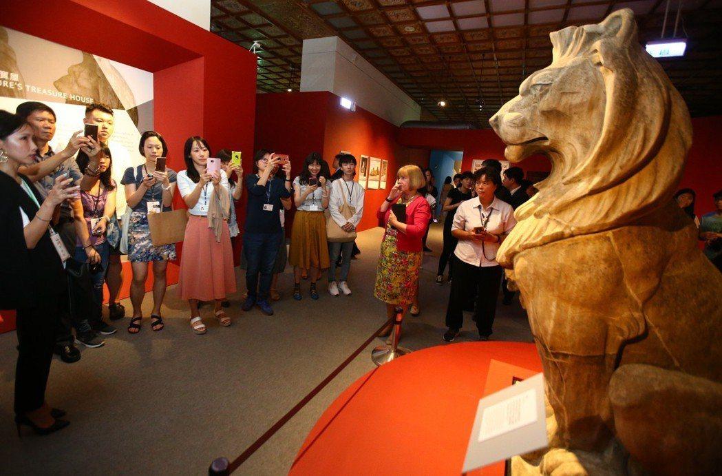 今夏最重量級的展覽「大英自然史博物館展」首度來台。記者曾學仁/攝影