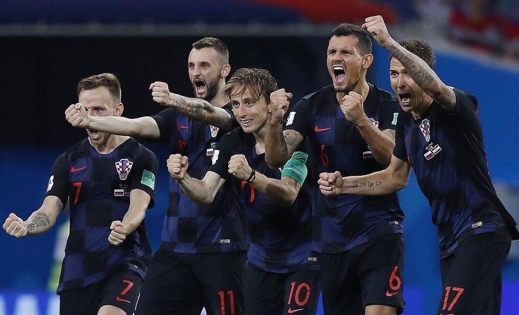 克羅埃西亞是史上第二支PK連勝。 美聯社