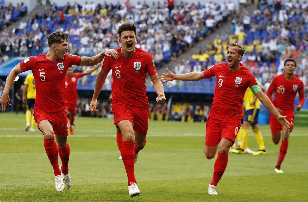 英格蘭隊獲勝。 美聯社